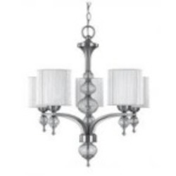 World Imports Five Light Nickel Up Chandelier